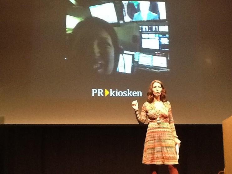 Anna Fagerström föreläser på Stockholmsmässan i Älvsjö. Foto: Sophie Brömster