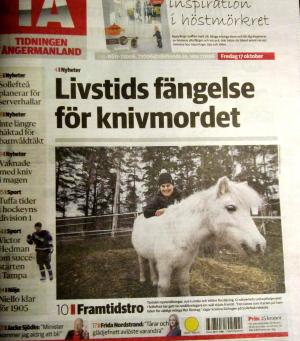 Artikel i Tidningen Ångermanland om PR-piloten.