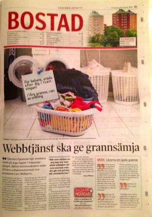 PR för Egrannar i Södermalmsnytt.