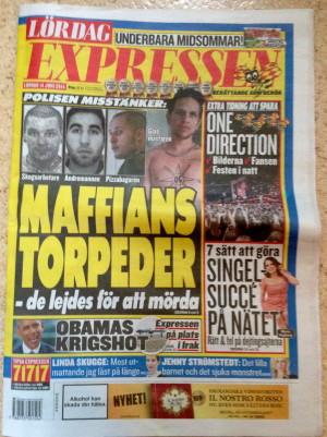 Dejtingexperten i Expressen, förstasida