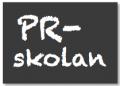 PR-skolan, logga, liten tvåradig