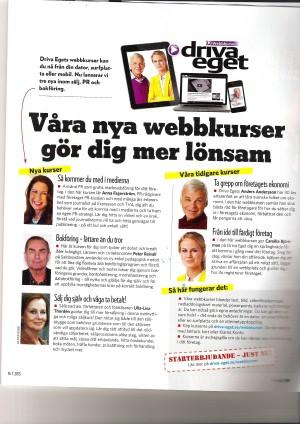 PR-kioskens webbkurs Så kommer du med i medierna i Driva eget, oktober 2013.