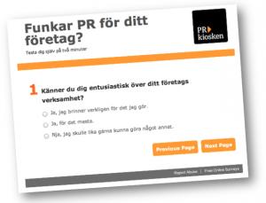 Är PR rätt sätt att marknadsföra ditt företag? Testa själv på två minuter.