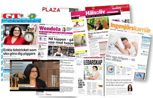 Några av Dorotea Petterssons webbaserade publiceringar.