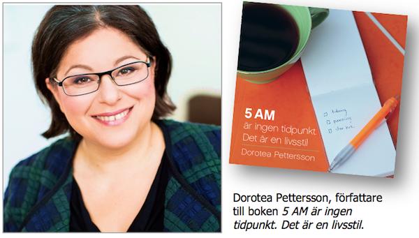 Dorotea Pettersson och boken.